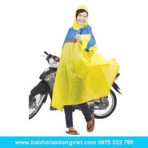 Áo mưa Poncho cổ rùa phối màu, áo mưa, áo mưa bộ, áo mưa rando, Quần áo bảo hộ, Quần áo bảo hộ lao động