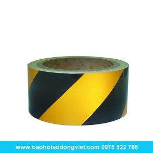Cuộn dán phản quang màu vàng đen, cuộn dán phản quang, dây phản quang, Băng rào cảnh báo, cuộn rào cảnh báo, cuộn rào công trình, cuộn rào xây dựng