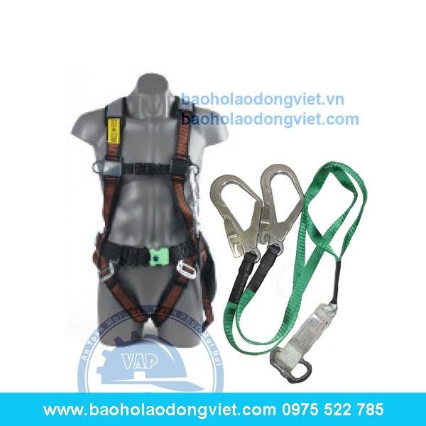 Dây đai an toàn toàn thân Kukje 2 móc nhôm, dây đai kukje, dây đai an toàn, bảo hộ trên cao
