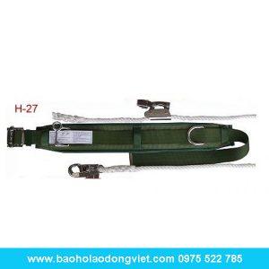 Dây đai khóa trượt H-27, dai đai an toàn, bảo hộ trên cao