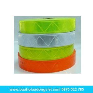 Dây phản quang nhựa bản rộng 2.5cm, dây phản quang, thiết bị công trình