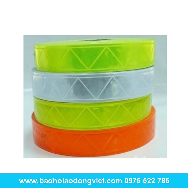 Dây phản quang nhựa bản rộng 3.5cm, dây phản quang, thiết bị công trình