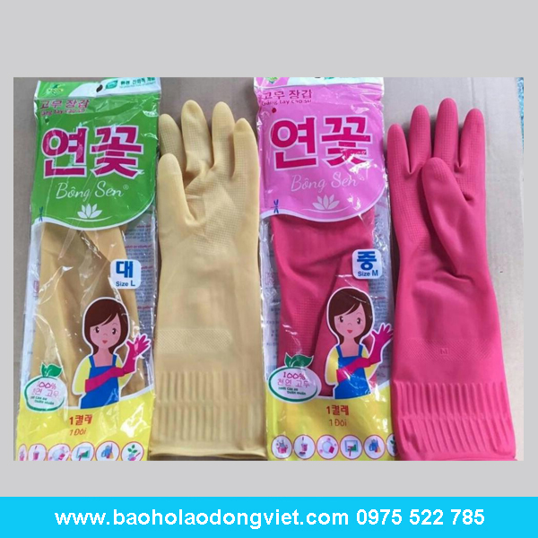 Găng tay Cao su Bông Sen