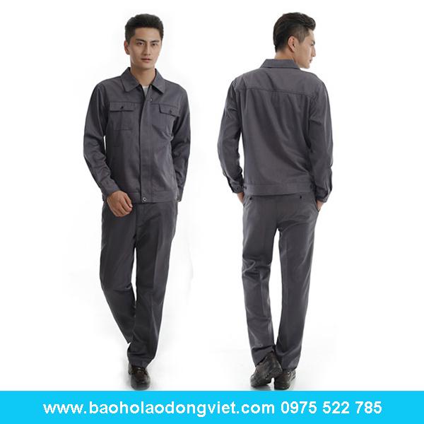 Quần áo pangrim màu ghi xám. đồng phục công nhân, Quần áo bảo hộ, Quần áo bảo hộ lao động