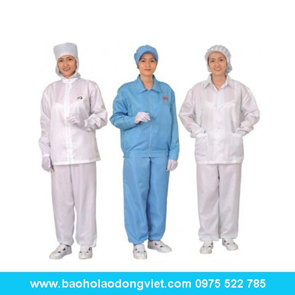 Quần áo phòng sạch chống tĩnh điện bộ rời, quần áo phòng sạch, quần áo chống tĩnh điện, phòng sạch, thiết bị phòng sạch, chống tĩnh điện