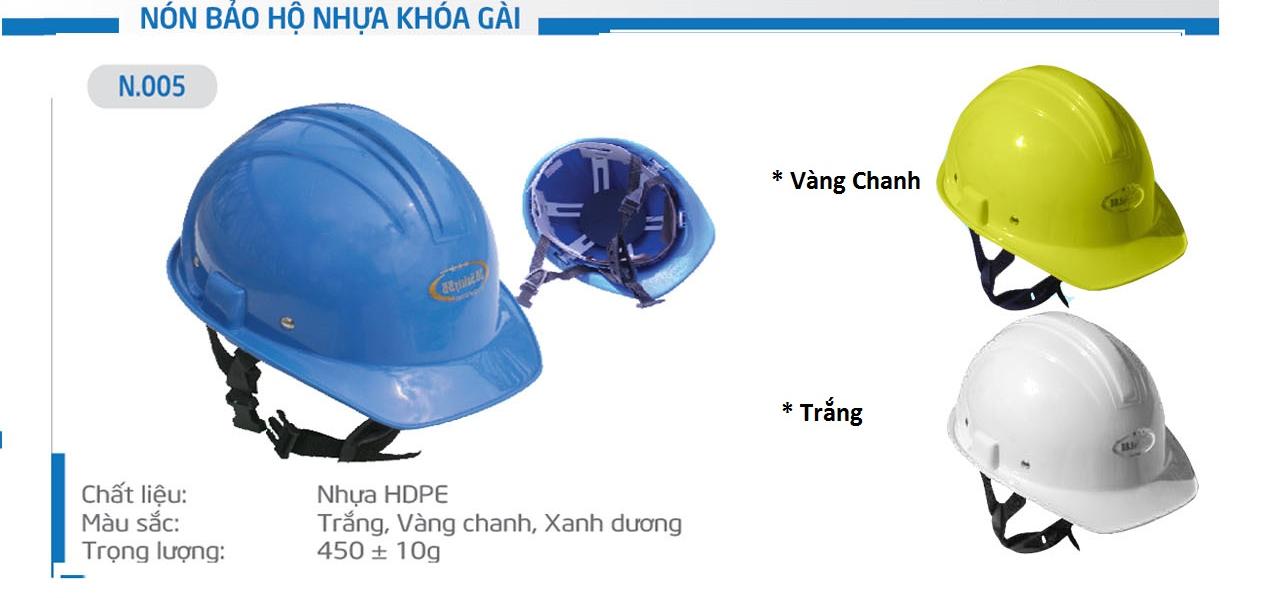 Mũ Bảo Bình N005, nón bảo bình, mũ bảo bình, mũ bảo hộ, mũ bảo hộ lao động, nón bảo hộ, nón bảo hộ lao động