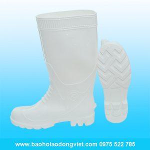 ủng nam màu trắng 05, ủng nhựa, ủng bảo hộ, ủng bảo hộ lao động, ủng đi mưa