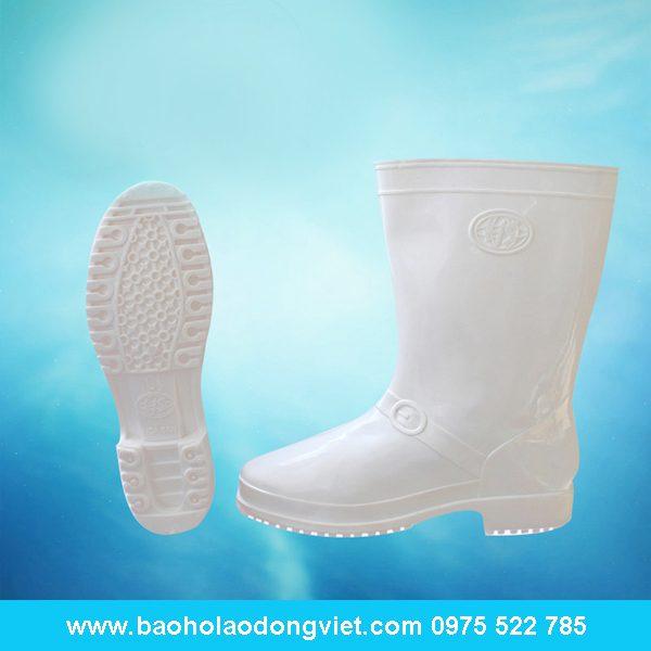 ủng nữ màu trắng 02, ủng nhựa, ủng bảo hộ, ủng bảo hộ lao động, ủng đi mưa