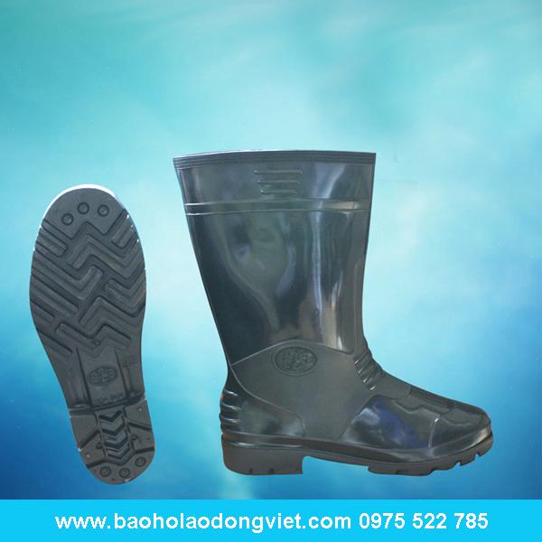 Ủng nam màu đen 01, ủng nhựa, ủng bảo hộ, ủng bảo hộ lao động, ủng đi mưa