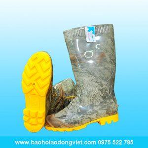 ủng nam màu rằn ri đế vàng 05, ủng nhựa, ủng bảo hộ, ủng bảo hộ lao động, ủng đi mưa