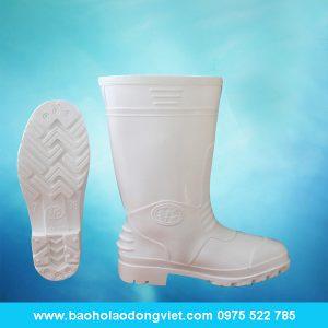 ủng nam màu trắng 01, ủng nhựa, ủng bảo hộ, ủng bảo hộ lao động, ủng đi mưa