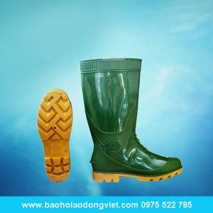 ủng nam màu xanh bộ đội đế vàng 05, ủng nhựa, ủng bảo hộ, ủng bảo hộ lao động, ủng đi mưa