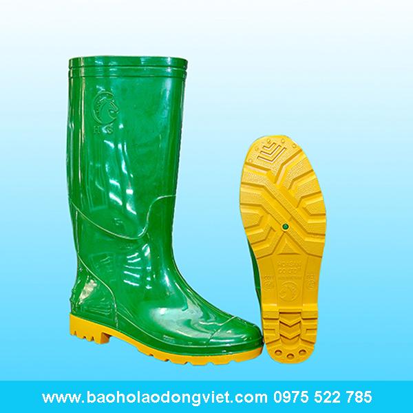 ủng nam màu xanh bộ đội đế vàng 16, ủng nhựa, ủng bảo hộ, ủng bảo hộ lao động, ủng đi mưa