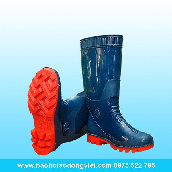 ủng nam xanh đế đỏ 05, ủng nhựa, ủng bảo hộ, ủng bảo hộ lao động, ủng đi mưa