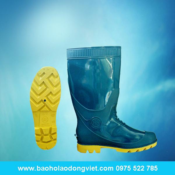 ủng nam xanh đế vàng 05, ủng nhựa, ủng bảo hộ, ủng bảo hộ lao động, ủng đi mưa