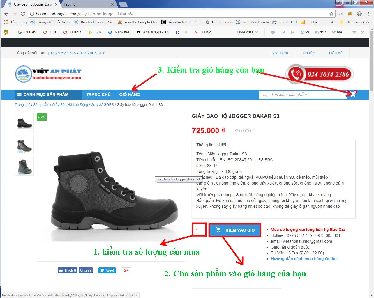 hướng dẫn cách mua hàng online