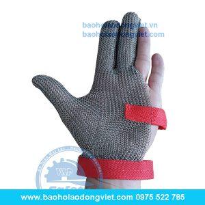 Găng tay chống cắt thép 3 ngón, găng tay bảo hộ, găng tay bảo hộ lao động, găng tAy chống cắt
