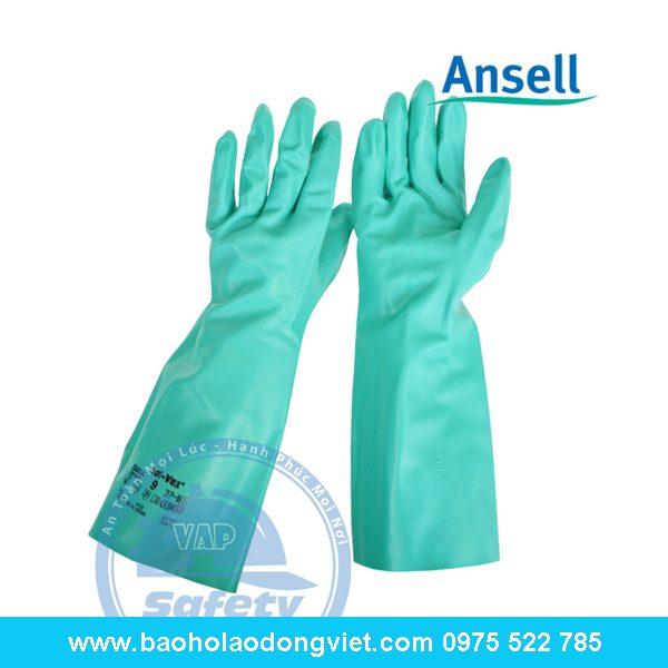 Găng tay chống hóa chất Ansell 37-165, găng tay ansell, găng tay chống hóa chất, găng tay bảo hộ, găng tay bảo hộ lao động