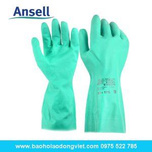 Găng tay chống hóa chất Ansell 37-175, Găng tay ansel 37-175, găng tay Sol-vex, găng tay chống hóa chất