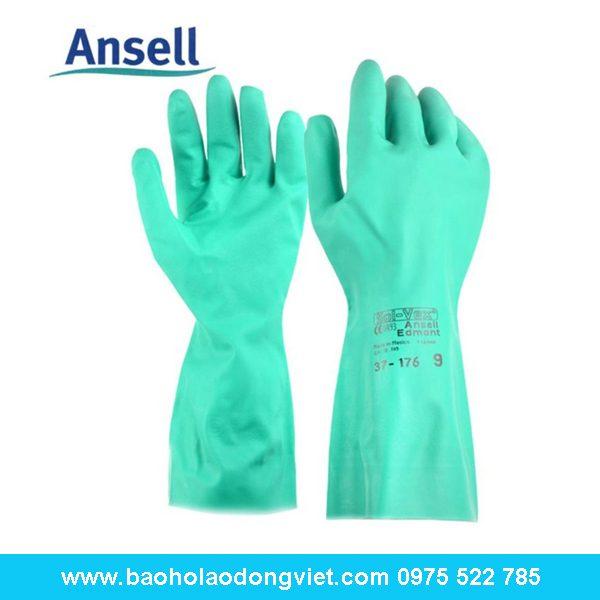 Găng tay chống hóa chất Ansell 37-176, Găng tay ansel 37-176, găng tay Sol-vex, găng tay chống hóa chất