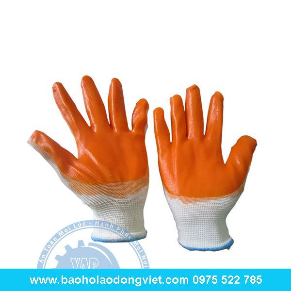 Găng tay len Phủ Cao su một mặt Kim 7, găng tay bảo hộ, găng tay bảo hộ lao động