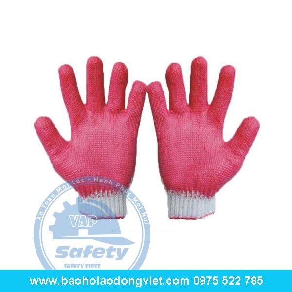 Găng tay len phủ cao su 2 mặt 50g, găng tay len, găng tay bảo hộ, găng tay bảo hộ lao động