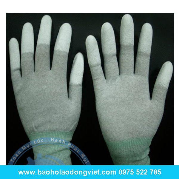 găng tay Conductive Phủ PU ngón, găng tay phủ PU, găng tay bảo hộ, găng tay bảo hộ lao động