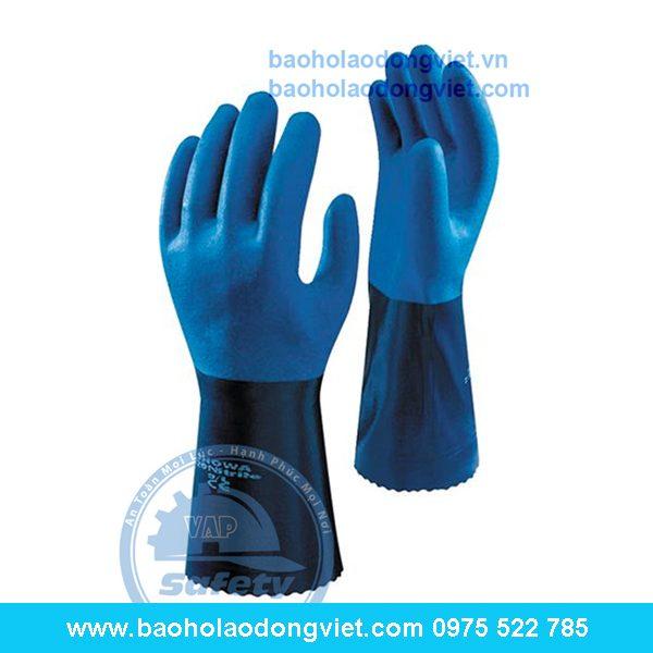 găng tay chống dầu showa 720, găng tay chống dầu, găng tay bảo hộ, găng tay bảo hộ lao động