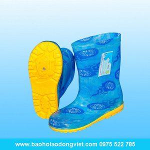 Ủng trẻ em màu xanh hình bánh xe, Ủng trẻ em, ủng nhựa dành cho trẻ em, ủng nhựa trẻ em