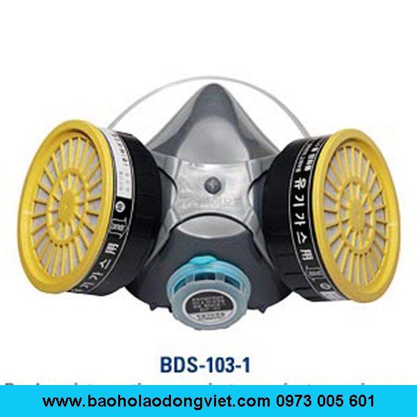 Mặt nạ phòng độc BDS-103-1, mặt nạ lọc độc BDS-103-1, mặt nạ nữa mặt BDS-103-1, mặt nạ 2 phin lọc BDS-103-1, Mặt nạ BDS-103-1, mặt nạ chống độc BDS-103-1, mặt nạ chống hóa chất BDS-103-1