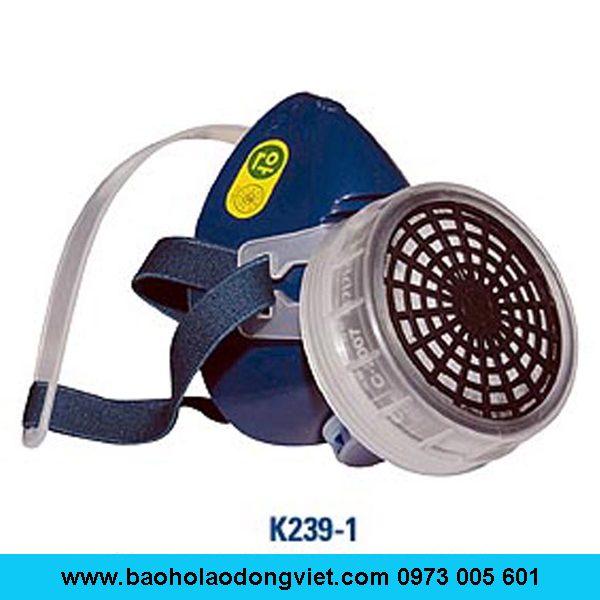 Mặt nạ phòng độc K239-1, mặt nạ lọc độc K239-1, mặt nạ nữa mặt K239-1, mặt nạ 1 phin lọc K239-1, Mặt nạ K239-1, mặt nạ chống độc K239-1, mặt nạ chống hóa chất K239-1