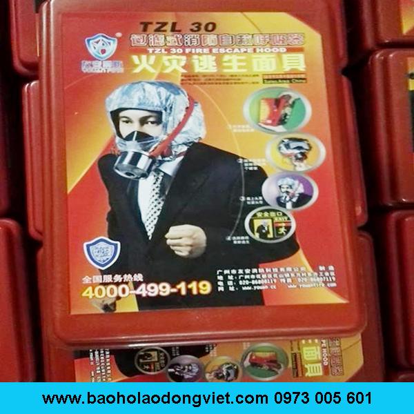 mặt nạ 3C phòng khói TZL30, Mặt nạ phòng độc TZL30, Mặt nạ phòng độc, mat na phong doc, mặt nạ phòng khói, mặt nạ thoát hiểm
