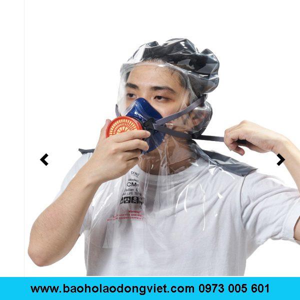 mặt nạ phòng khói CM-2, mặt nạ lọc độc khói CM-2, mặt nạ trùm đầu CM-2, mặt nạ 1 phin lọc CM-2, Mặt nạ CM-2, mặt nạ phòng độc CM-2, mặt nạ chống hóa chất CM-2