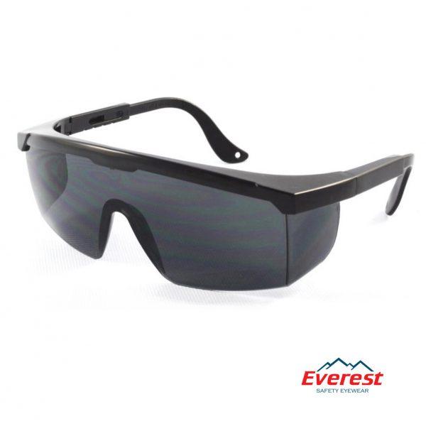Kính bảo hộ EV105 màu đen, kính chống bụi EV105 màu đen, kính bảo hộ chống bụi, kính chống bụi EV105, kính chống tia uv EV105