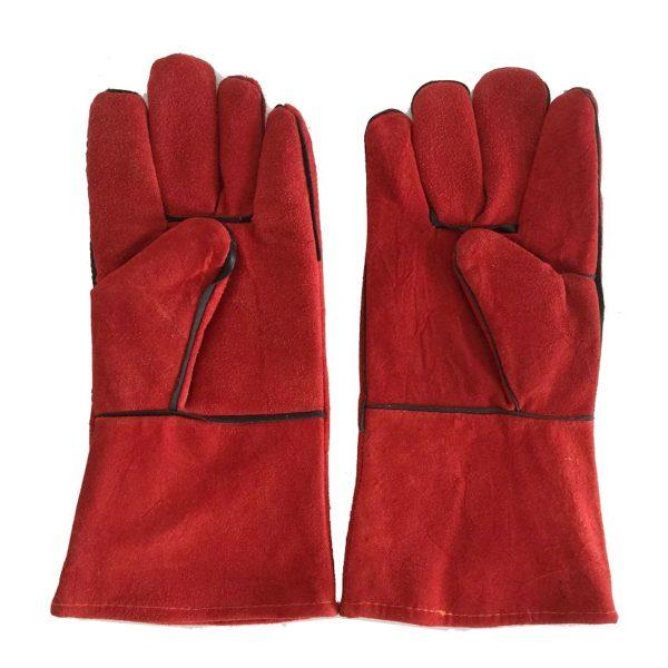 găng tay da hàn Pháp màu đỏ
