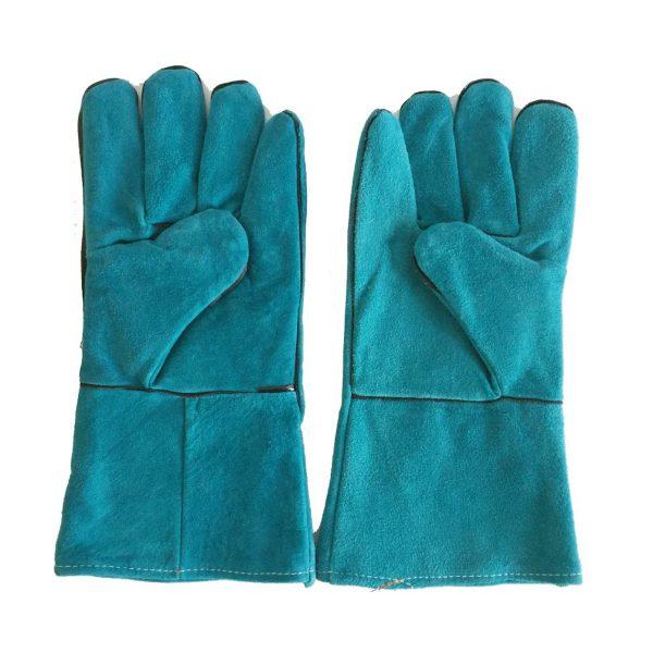 găng tay da hàn Pháp màu xanh