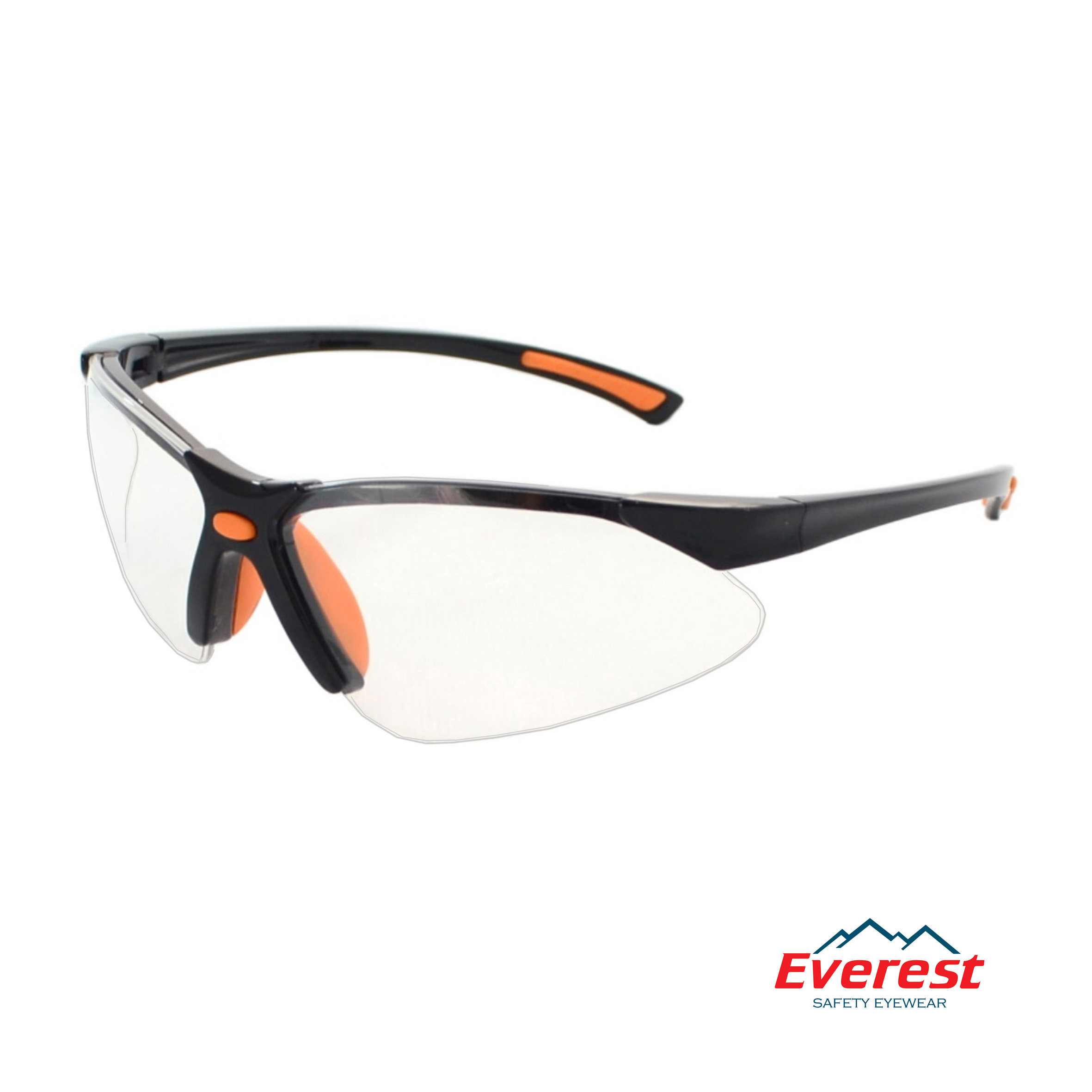 Kính bảo hộ EV301 màu trắng, kính chống bụi EV301 màu trắng, kính bảo hộ chống bụi, kính chống bụi EV301, kính chống tia uv EV301