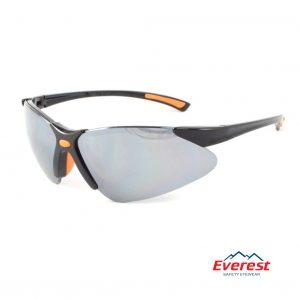 Kính bảo hộ EV304 đen tráng bạc, kính chống bụi EV304 đen tráng bạc, kính bảo hộ chống bụi, kính chống bụi EV304, kính chống tia uv EV304