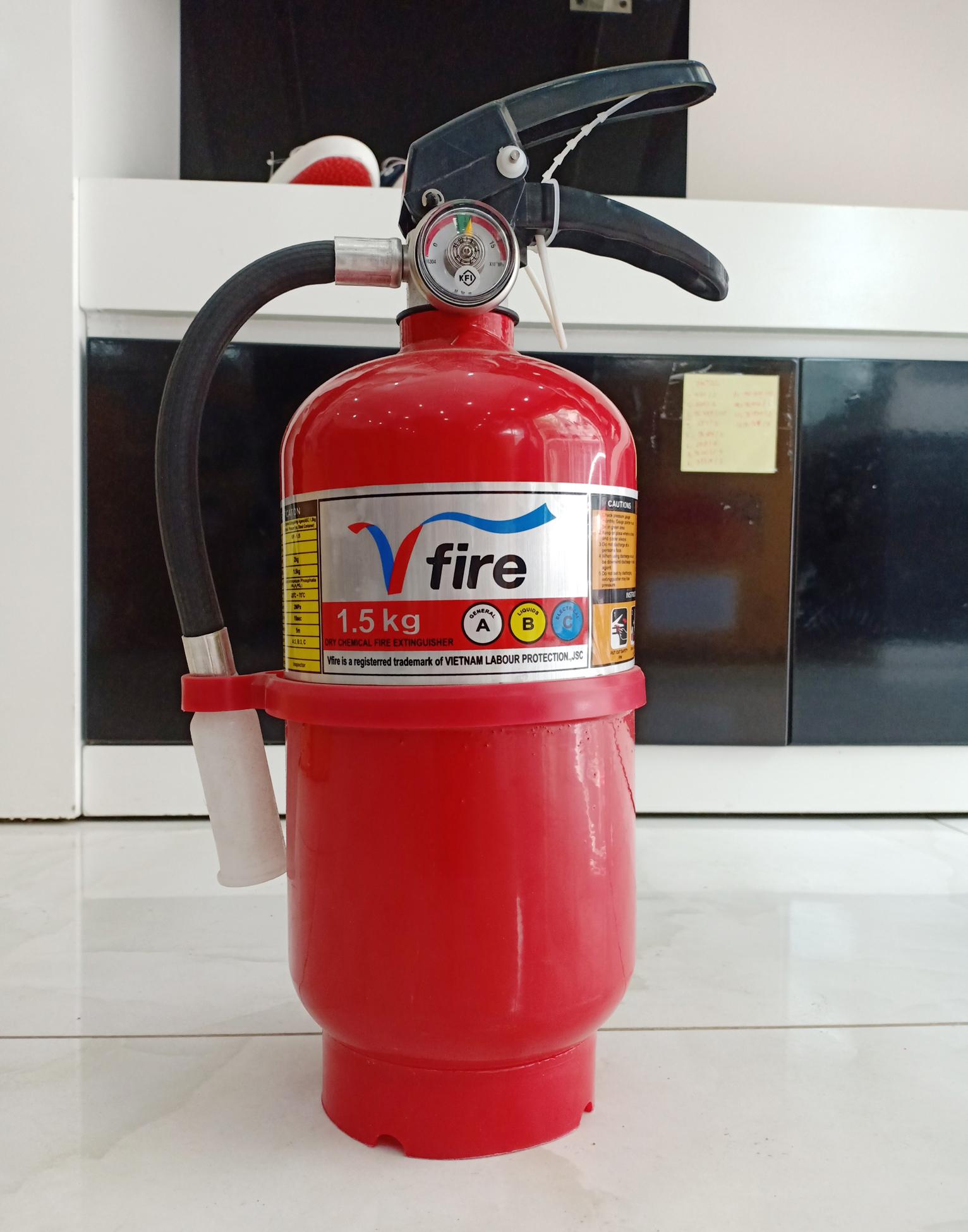 Bình bột chữa cháy ABC HanKook Hàn Quốc 1.5kg