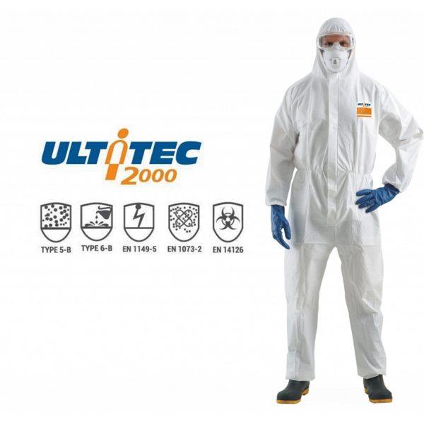 Quần áo chống hóa chất Ultitec 2000, Quần áo chống hóa chất Ultitec, áo liền quần chống hóa chất Ultitec 2000, Ultitec 2000