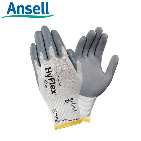 Găng tay đa dụng Ansell Hyflex 11-800, Găng tay cơ khí đa năng Ansell Hyflex 11-800, Găng tay Ansell Hyflex 11-800, Găng tay chịu dầu Ansell Hyflex 11-800