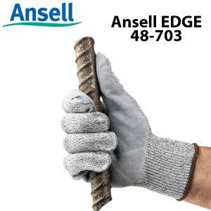 Găng tay chống cắt cấp 5 Ansell EDGE 48-703, Găng tay cơ khí đa năng Ansell EDGE 48-703, Găng tay chống cắt Ansell EDGE 48-703, Găng tay Ansell EDGE 48-703, Găng tay chịu dầu Ansell EDGE 48-703
