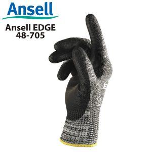 Găng tay chống cắt cấp 5 Ansell EDGE 48-705, Găng tay cơ khí đa năng Ansell EDGE 48-705, Găng tay chống cắt Ansell EDGE 48-705, Găng tay Ansell EDGE 48-705, Găng tay chịu dầu Ansell EDGE 48-705
