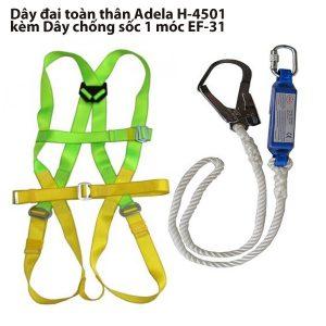 Dây đai toàn thân Adela H-4501 kèm Dây chống sốc 1 móc EF-31, H-4501 + EF-31