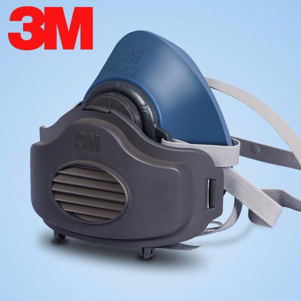 Bộ Mặt nạ 3M HF-52 kèm tấm lọc 3M 3744K và nắp nhựa 3M 3700